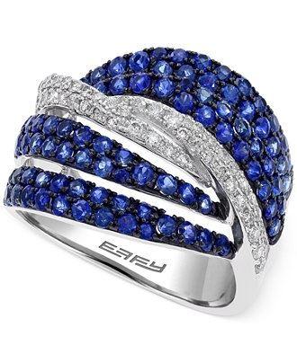 кольцо с сапфирами Effy