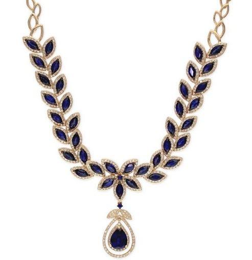 ожерелье Effy с листочками-сапфирами