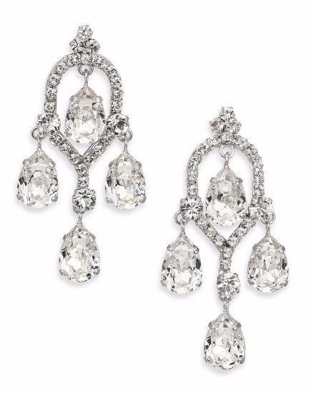 серьги-люстры с крупными кристаллами