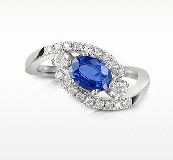 кольцо с сапфиром Forzieri