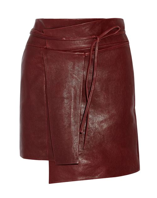 асимметричная кожаная юбка 2016