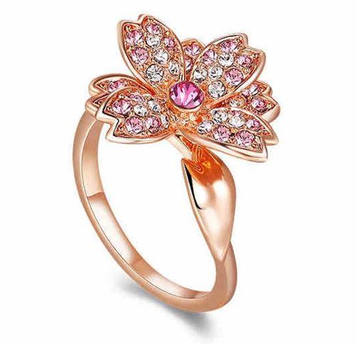 кольца с цветами Italina