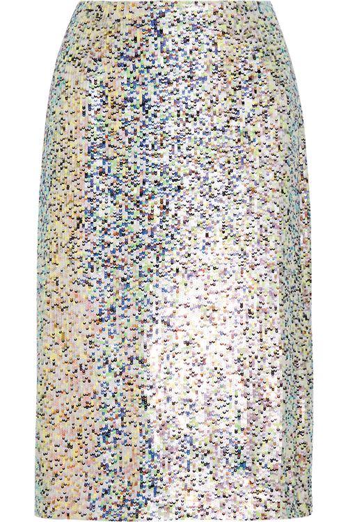 блестящая юбка-карандаш 2016