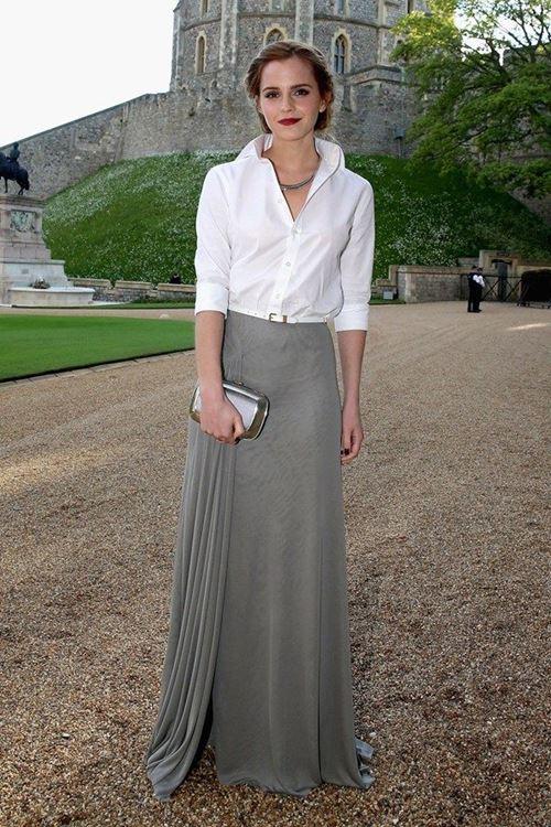 Стиль длинная юбка с рубашкой