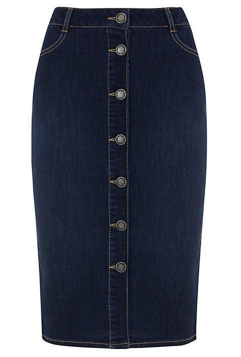 джинсовая юбка-карандаш 2016