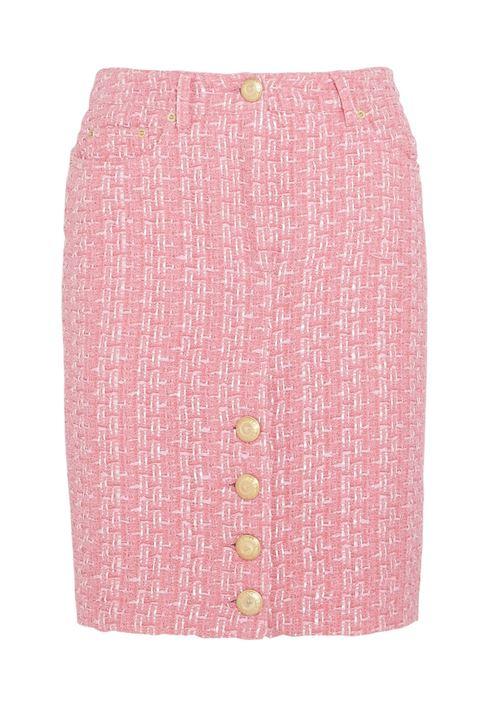 розовая юбка-карандаш 2016