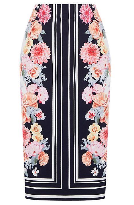 цветочная юбка-карандаш 2016