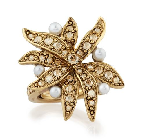 кольца с цветами Oscar de la Renta 1