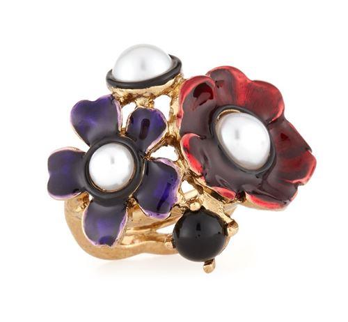 кольца с цветами Oscar de la Renta