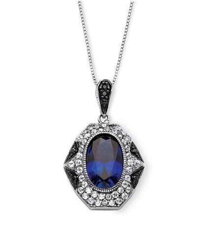 крупный кулон с синими камнями под сапфир Palmbeach Jewelry