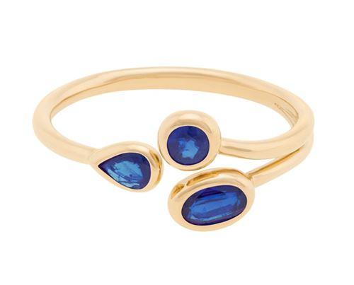 кольцо с сапфирами Plukka