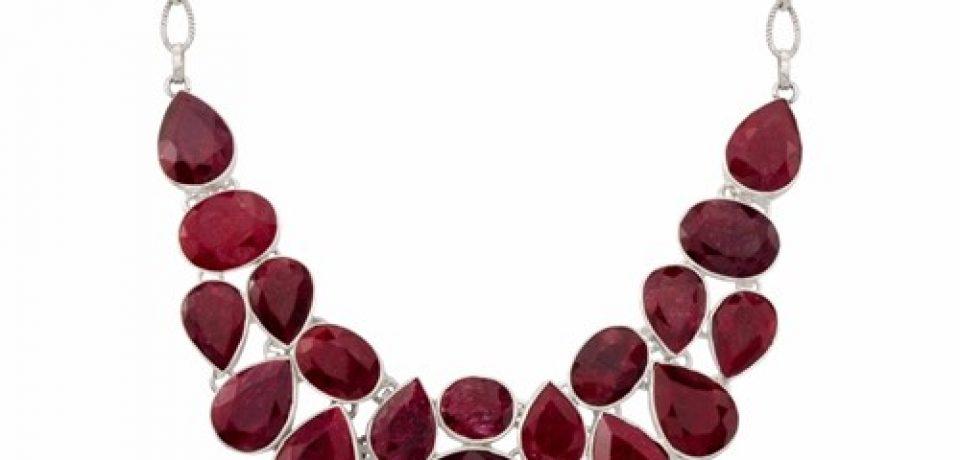 Кулоны, подвески, колье и ожерелья с рубинами (25 фото)
