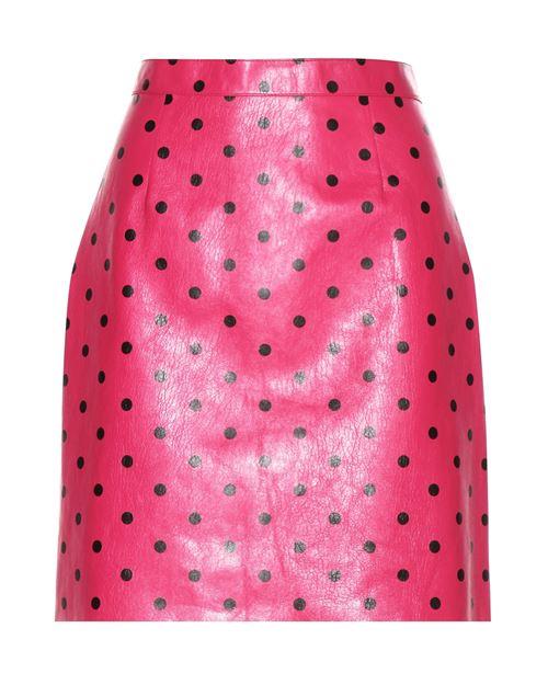 розовая юбка из кожи 2016