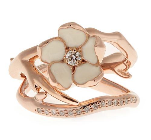 кольца с цветами Shaun Leane