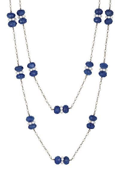 двухрядное ожерелье с сапфирами Sidney Garber
