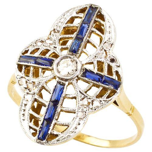кольцо с сапфирами Turner & Leveridge