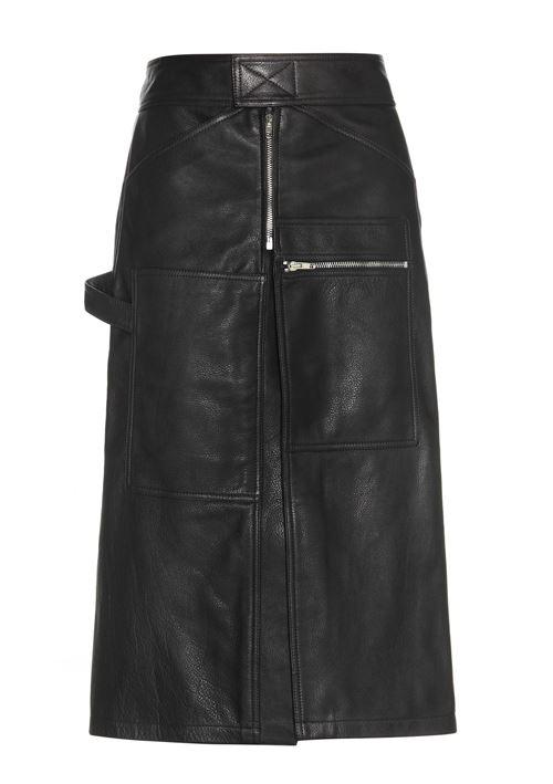 длинная кожаная юбка 2016