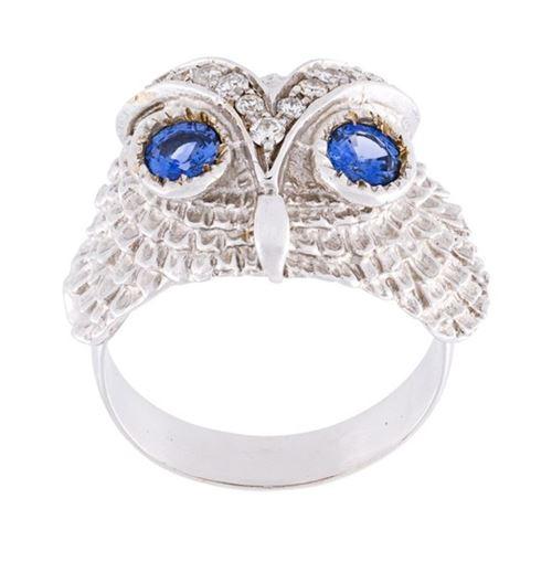 кольцо с сапфирами Yvonne Leon