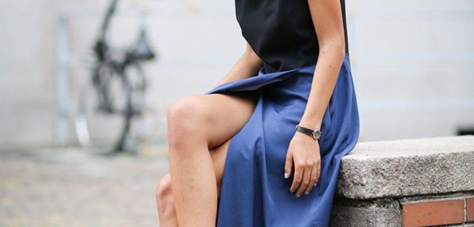 Как и с чем носить длинные платья-макси (27 фото)