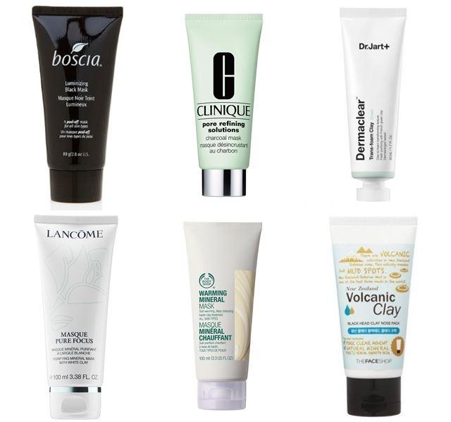 Очищающие маски для лица с глиной и грязью: черные угольные, белая и зеленая глина
