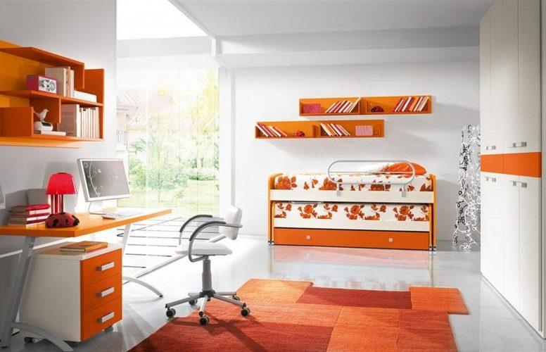 оранжевый в дизайне интерьера  (2)
