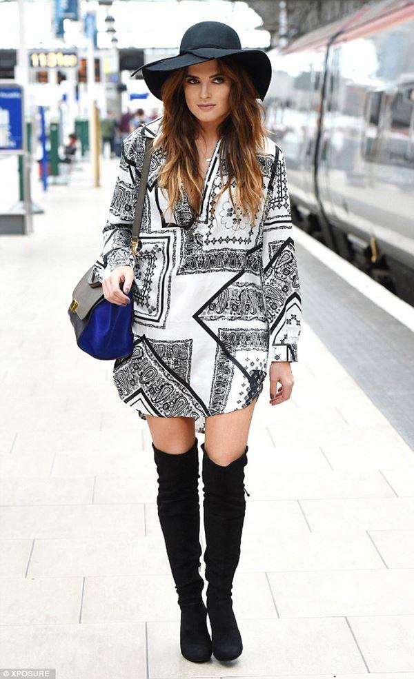 платье с ботинками и сапогами фото (10)