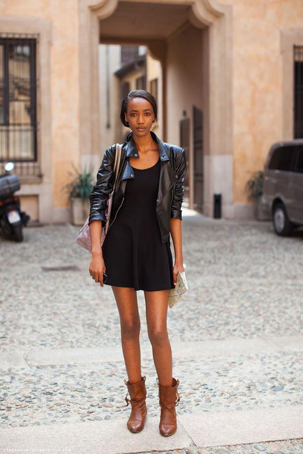 платье с ботинками и сапогами фото (11)