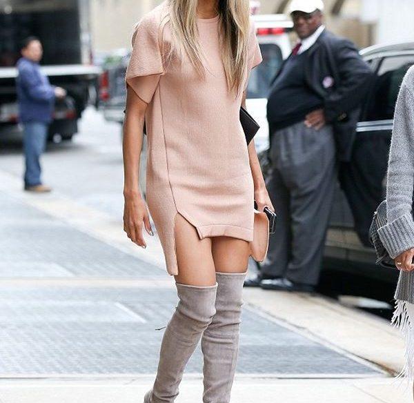 платье с ботинками и сапогами фото (12)