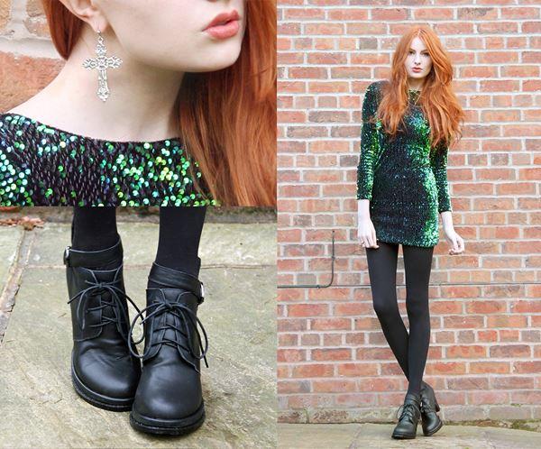 платье с ботинками и сапогами фото (13)
