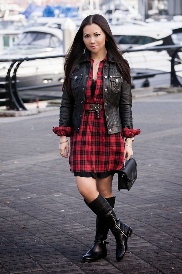 платье с ботинками и сапогами фото (15)