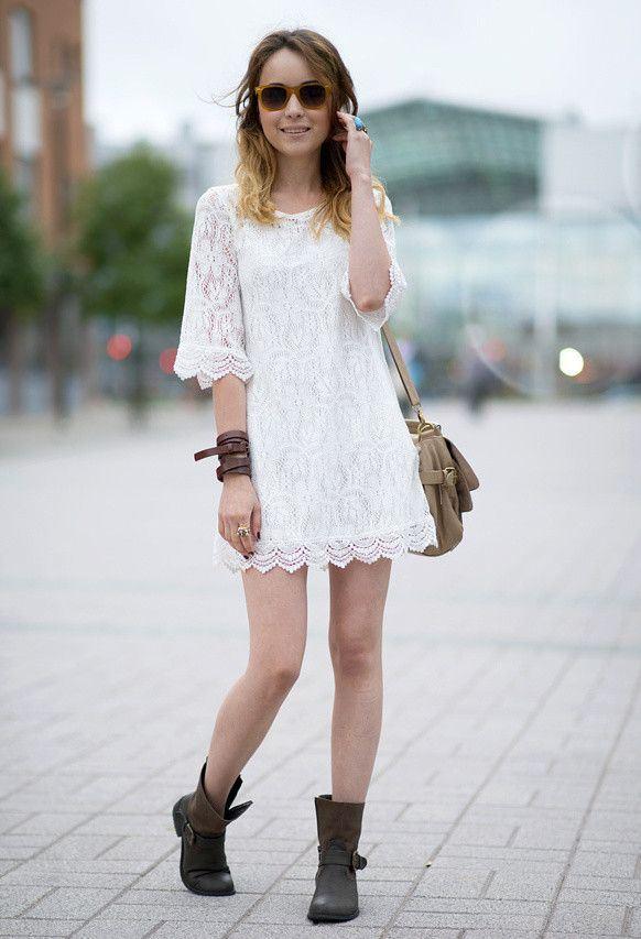 платье с ботинками и сапогами фото (18)