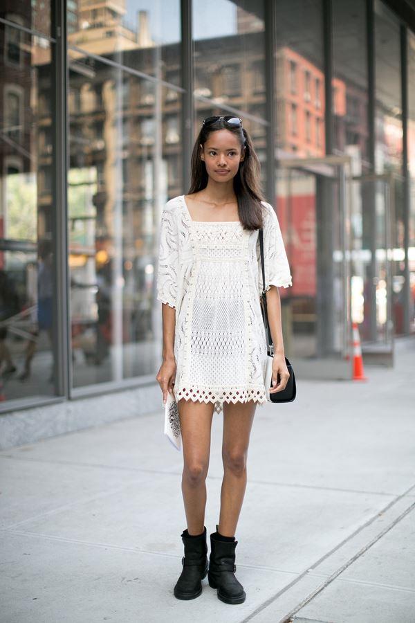 платье с ботинками и сапогами фото (19)