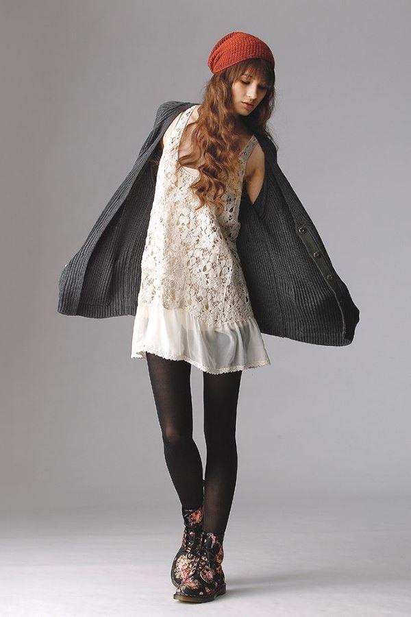 платье с ботинками и сапогами фото (20)