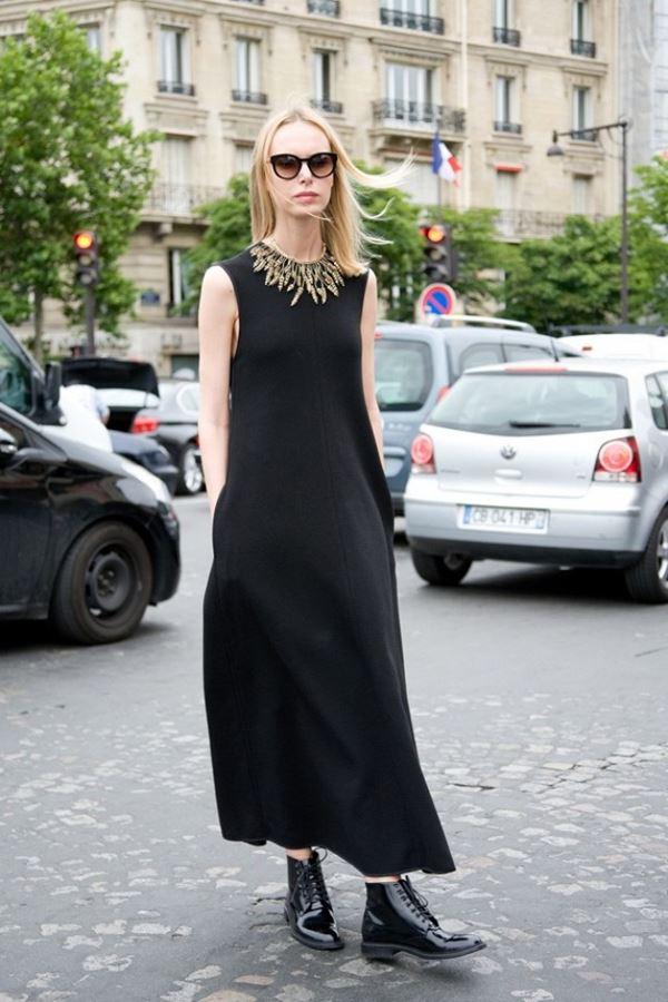 платье с ботинками и сапогами фото (3)