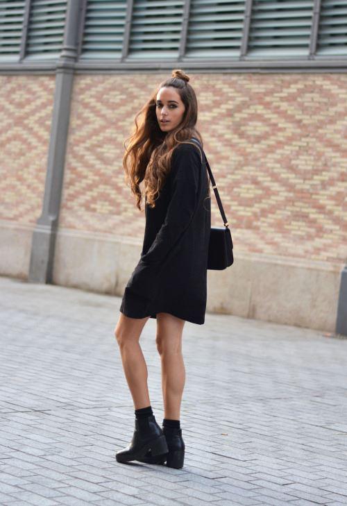 платье с ботинками и сапогами фото (5)