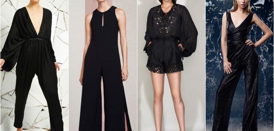 Элегантные черные комбинезоны 2016: новый вечерний стиль