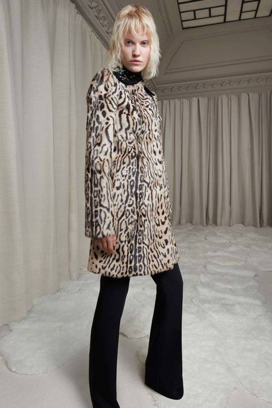 леопардовое пальто Giambattista Valli