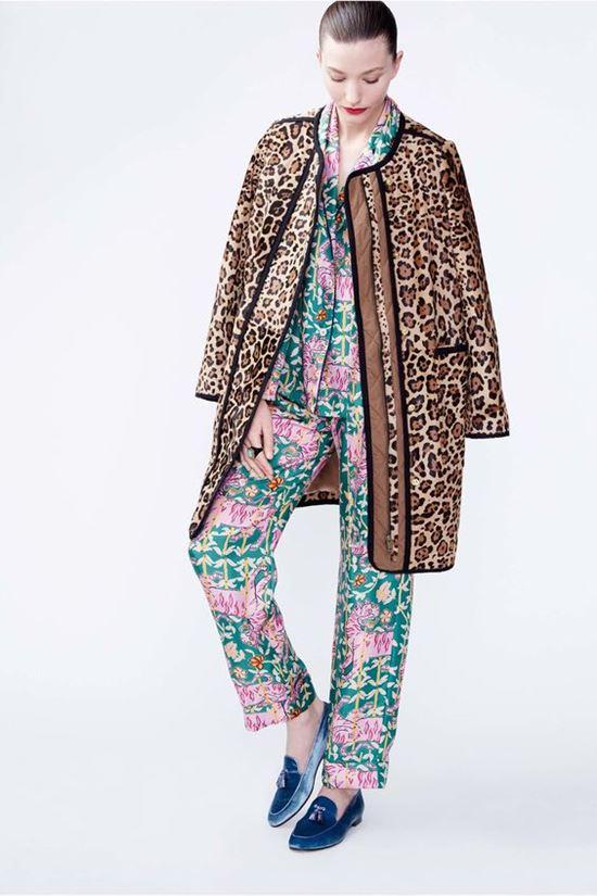 леопардовое пальто J.Crew