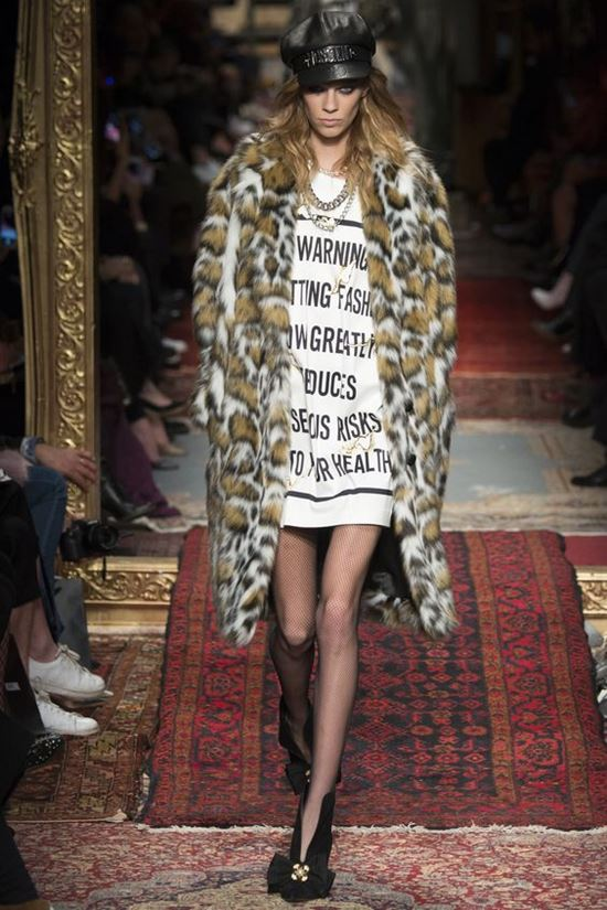 леопардовое пальто Moschino