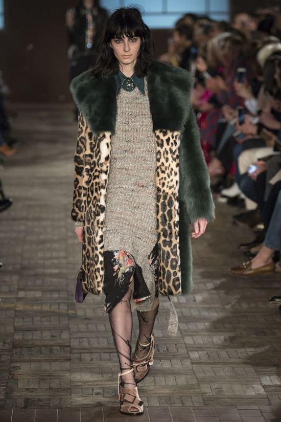 леопардовое пальто No.21