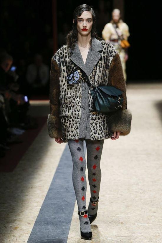 леопардовое пальто Prada