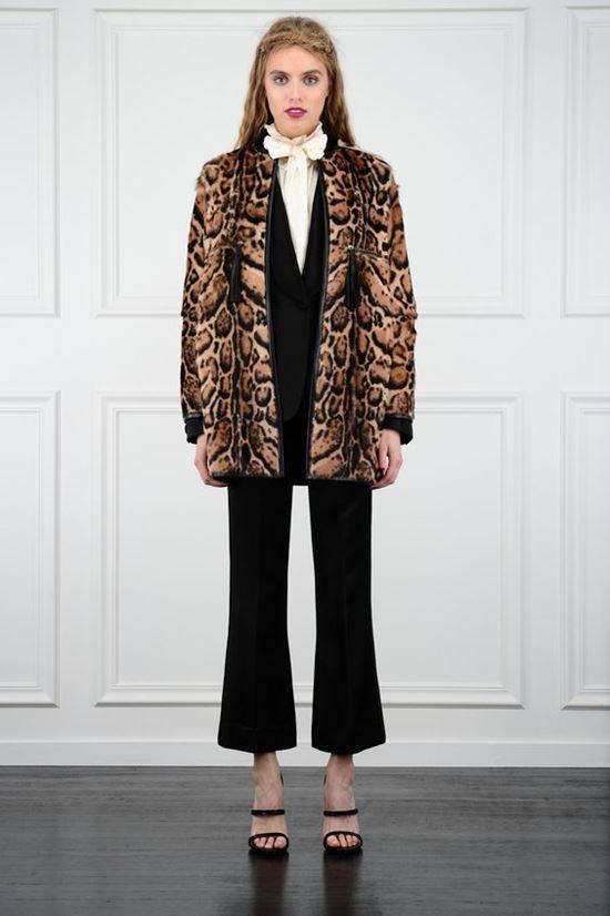 леопардовое пальто Rachel Zoe