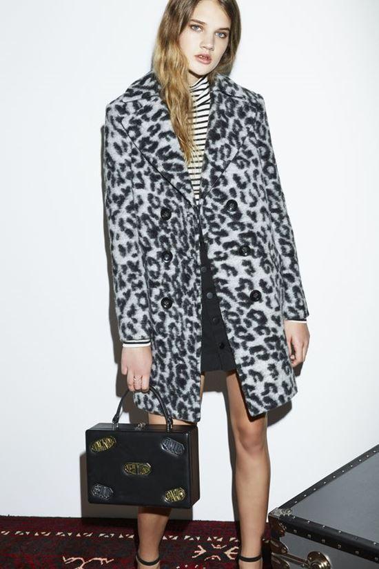 леопардовое пальто Rebecca Minkoff