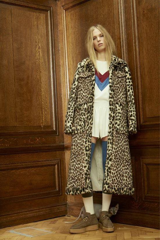 леопардовое пальто Stella McCartney