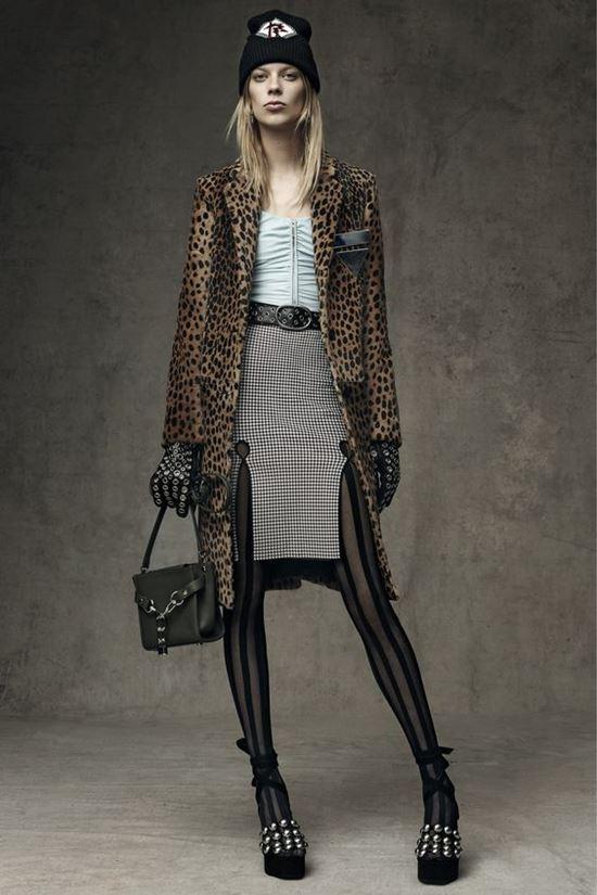 леопардовое пальто Alexander Wang x H&M