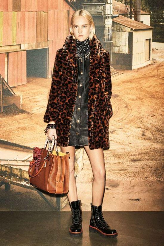 леопардовое пальто Coach 1941