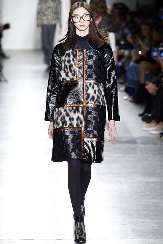 кожаное леопардовое пальто Custo Barcelona