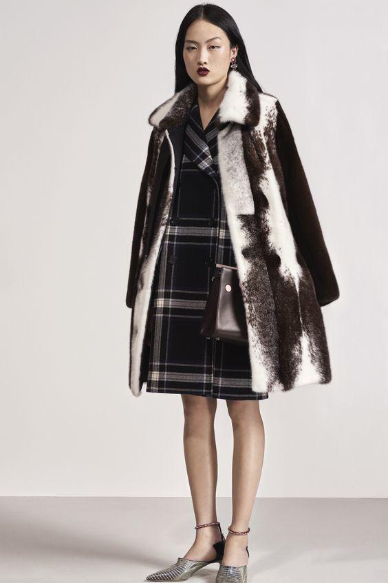 Christian Dior элегантное меховое пальто