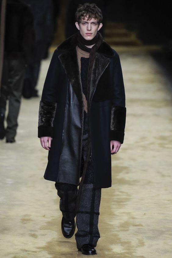 Fendi мужская дубленка-пальто осень-зима 2016-2017
