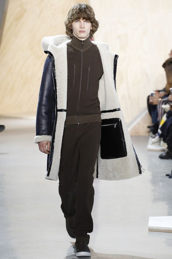Lacoste, мужская дубленка-пальто с капюшоном осень-зима 2016-2017